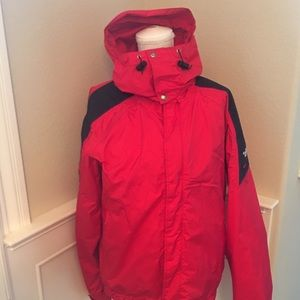 The Northface extreme Gore Tex red Jacket Large
